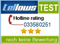 tellows Bewertung 033580251