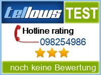 tellows Bewertung 098254986